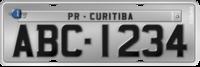 Placa de carro no Brasil