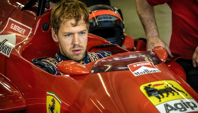 Primeiro contato de Sebastian Vettel com a Ferrari